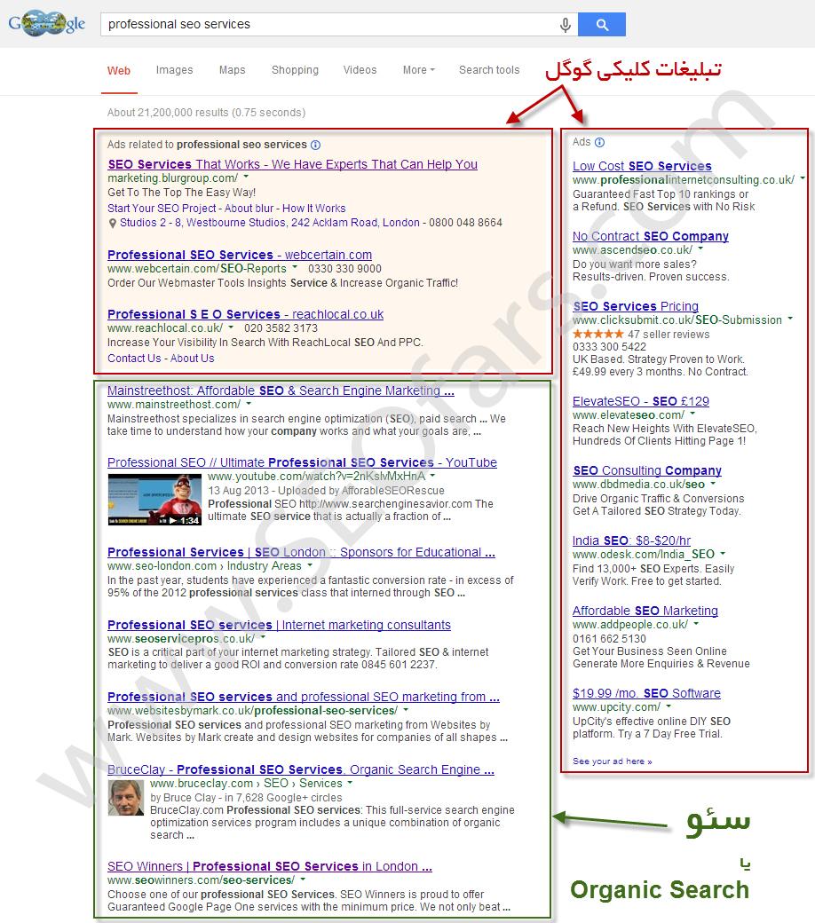 تبلیغات کلیکی گوگل –  گوگل ادوردز - پی پی سی